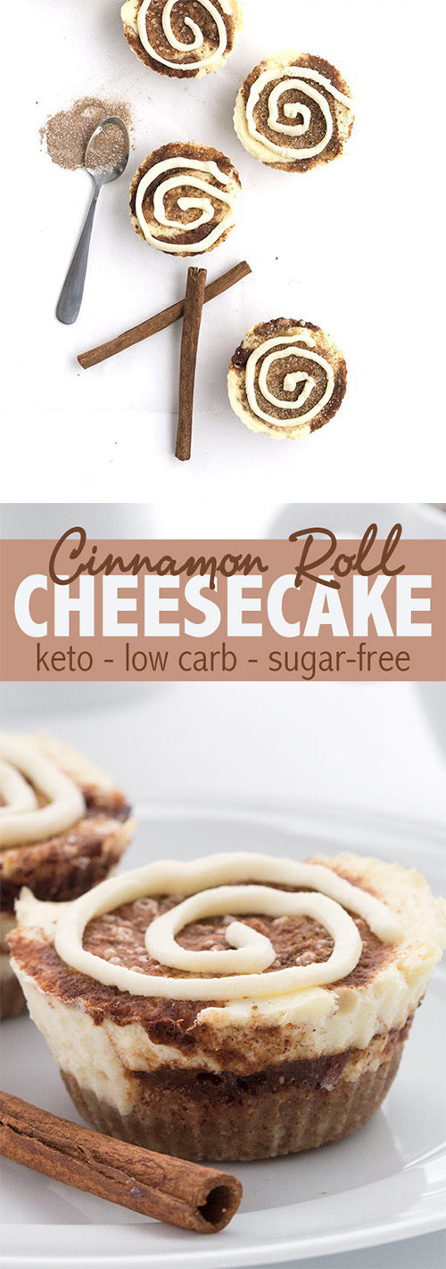 MINI CINNAMON ROLL CHEESECAKES – KETO RECIPE