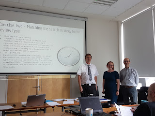 Andrew, Louise and Mark presenting in Dublin