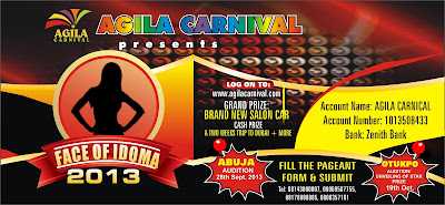 @NAIJAMUSICCITY: FACE OF IDOMA The 2013 Face of Idoma Beauty Pageant Application Form Is Out. @agilacarnival