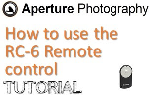 How to use the Canon RC-6 remote control
