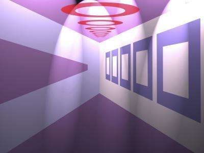 Bir duvara çizilen şekillerle derinlik oluşturulmasını gösteren resim