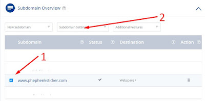 Setting Custom Domain Blogger at 1 and 1