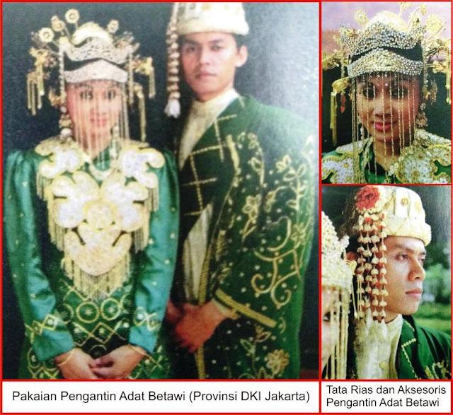 gambar pakaian adat pengantin betawi