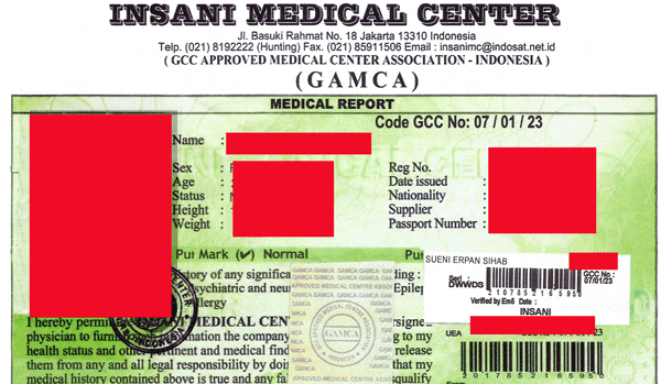 Daftar Alamat Medical Cek Up Gamca TKI - Visaku