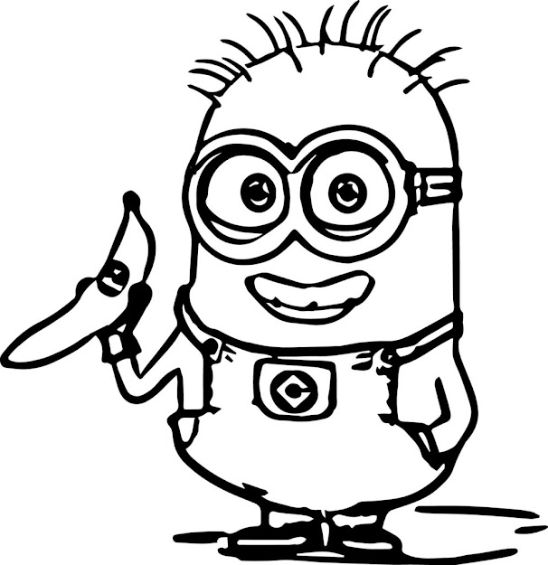 Minion Coloring Pages With Minion Coloring Pages
