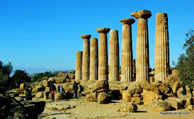 Templo de Hércules no Vale dos Templos de Agrigento