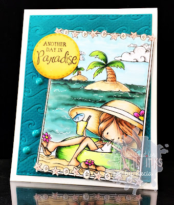 Tiddly Inks, Kecia Waters, coloring book, Copic markers, beach