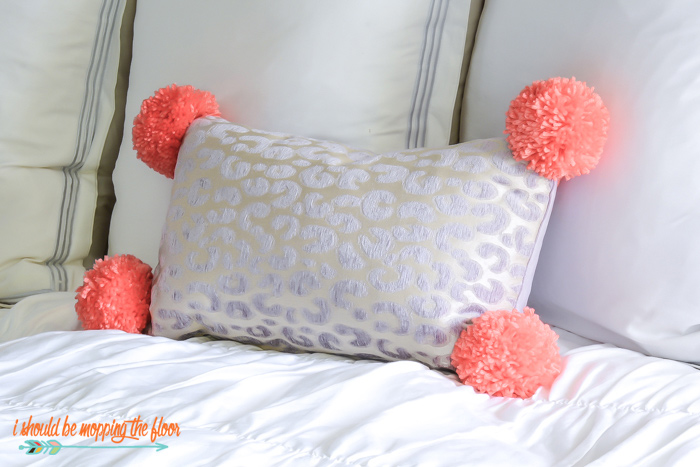 Big Pom Poms on a Pillow