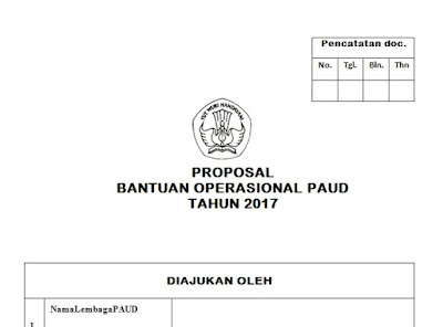 Download Format Proposal Bantuan BOP PAUD Baru 2017