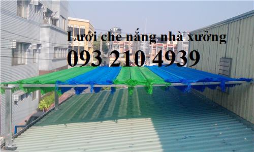 Lưới che nắng trên mái nhà
