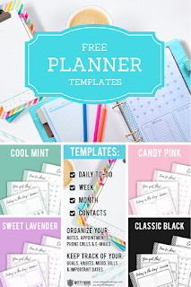 Free planner templates Witty Mind Design