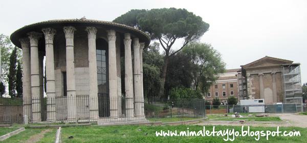 Templo a Vesta y Casa de las Vestales en Roma