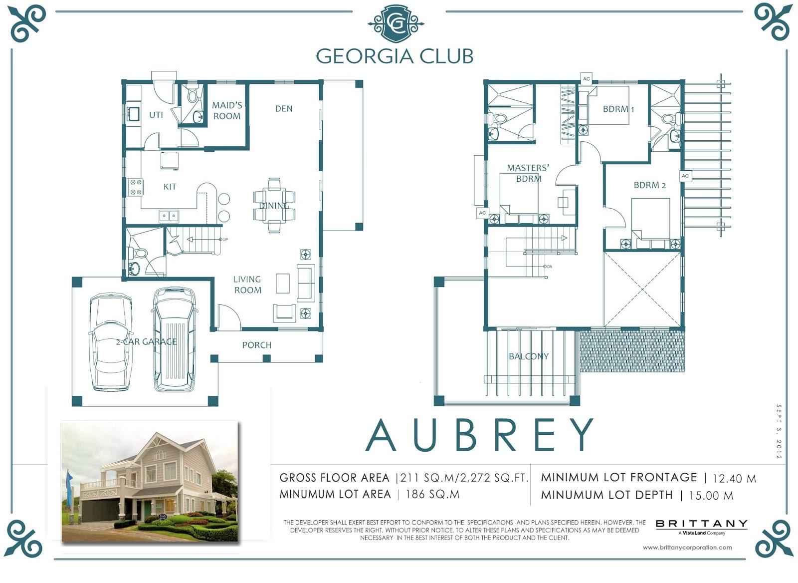 GEORGIA CLUB - AUBREY | Luxury House for Sale Sta. Rosa Laguna on