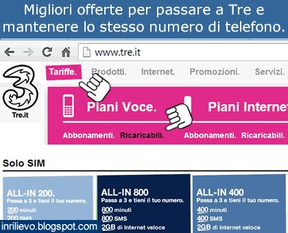 online store a1f45 06cf3 In Rilievo: Migliori offerte passa a Tre stesso numero