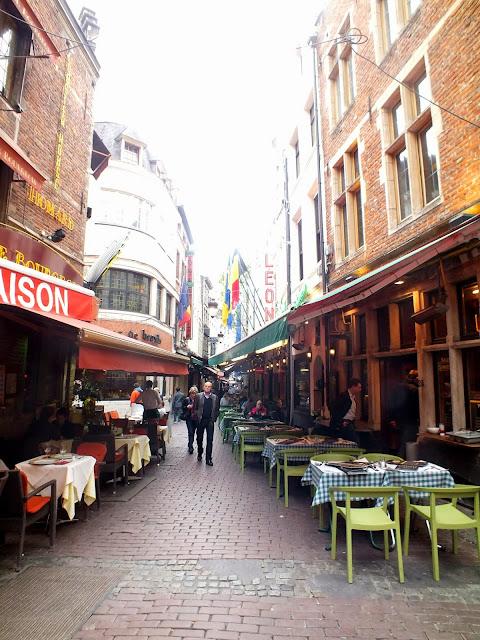 restaurantes por el centro de bruselas
