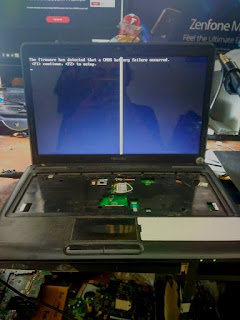 servis laptop toshiba c640d tidak tampil di malang