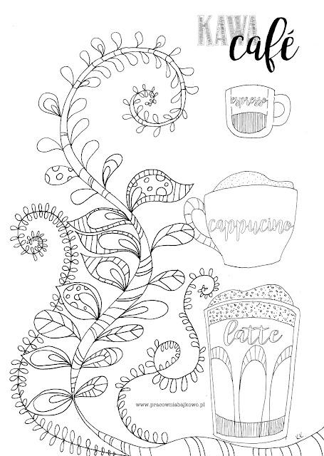 183* kolorowanka antystresowa przy kawie