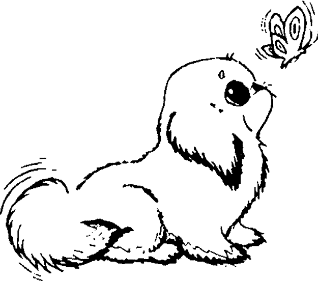 Cute Dogs Coloring Pages To Print