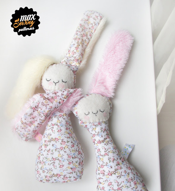 Soft toy bunny sewing pattern