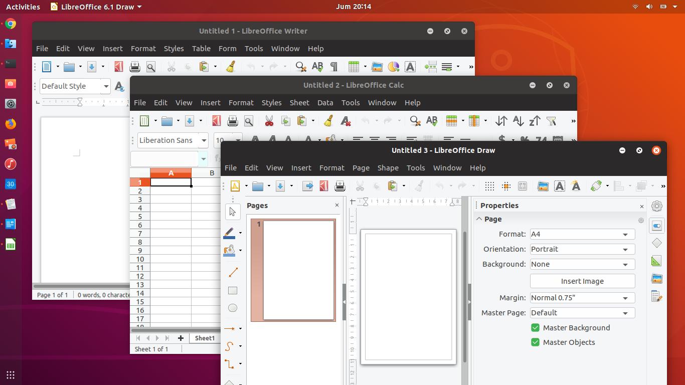 LibreOffice 6 1 1 Release, Install on Ubuntu (18 04, 16 04
