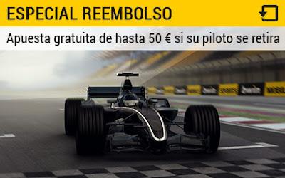 bwin reembolsa 50 euros si tu piloto se retira F1 GP de Baku Europa 19 junio