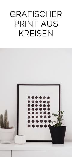 DIY einfacher geometrischer Print aus schwarzen Kreisen mit Wasserfarben   Tasteboykott