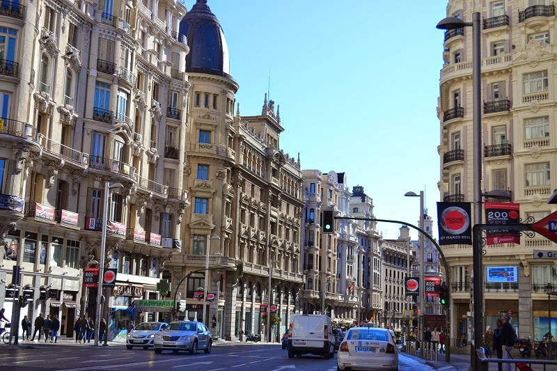 Gran Via, Madrid, Espagne