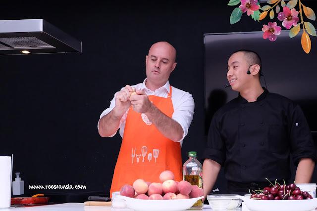 chef yuda bustara; victorian government; show cooking; cherry australia; summer fruit australia; brett stevens