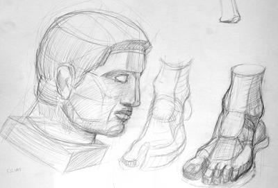 Рисование головы в разных ракурсах