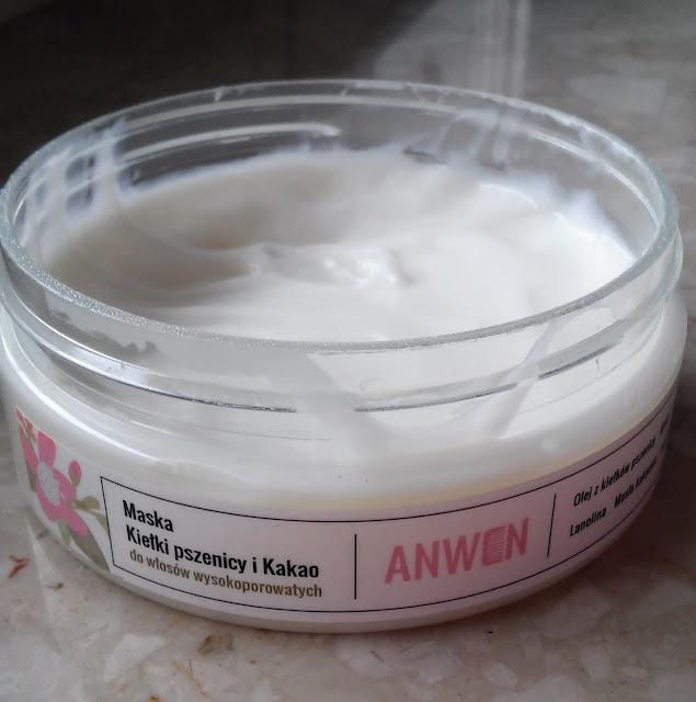 maska anwen do włosów wysokoporowatych