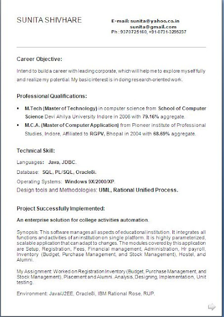 Writing Support Centre - Western University format cv resume biodata - marriage resume format