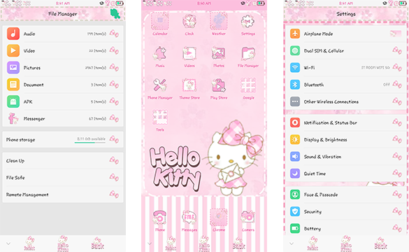 Oppo Theme: Oppo Hello Kitty Mail Theme