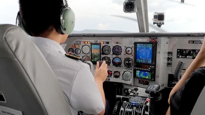 GA8 Airvan Cockpit