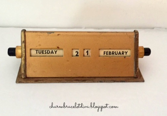 Brass perpetual desk calendars