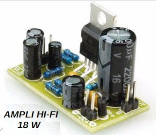 AMPLI 18W CIRCUIT INTEGRE TDA 2030 DIY easily