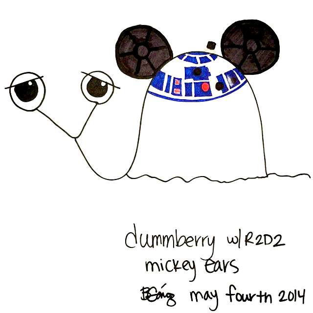 Star Wars Dummberry the Snail Says May The Fourth Be With You : BeckyCharms 2014