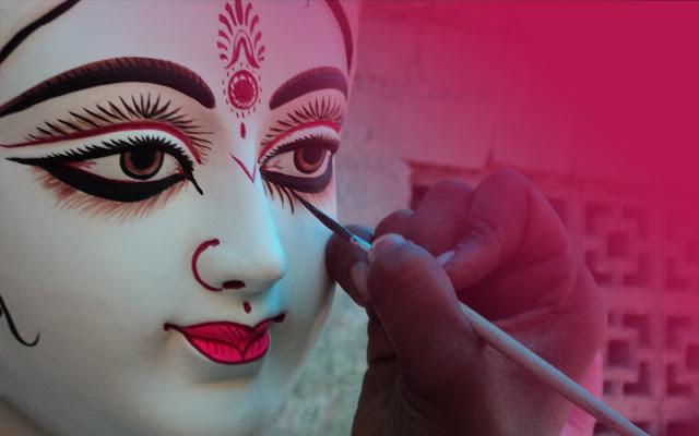 Maa Durga Painting  Wallpaper
