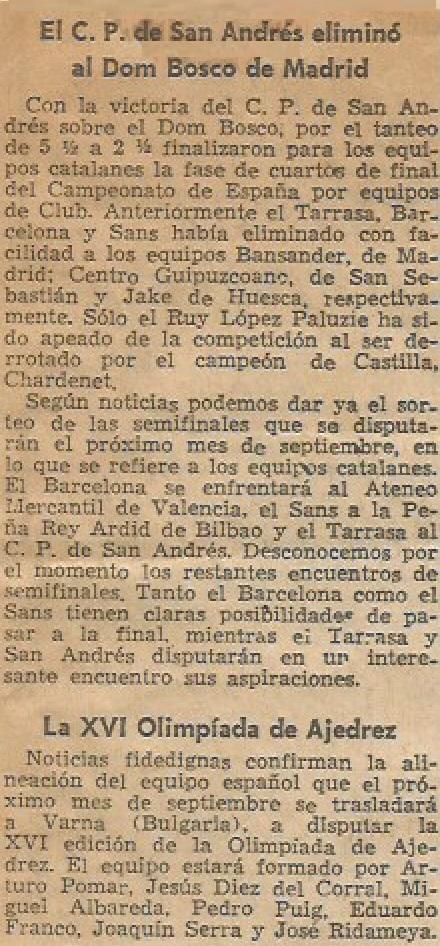 Articulo de Francino en La Vanguardia, 22/8/1962