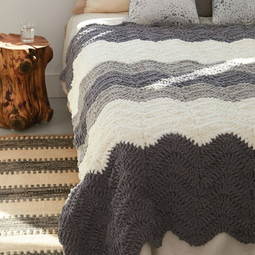 Grey Scale Blanket - Free Pattern