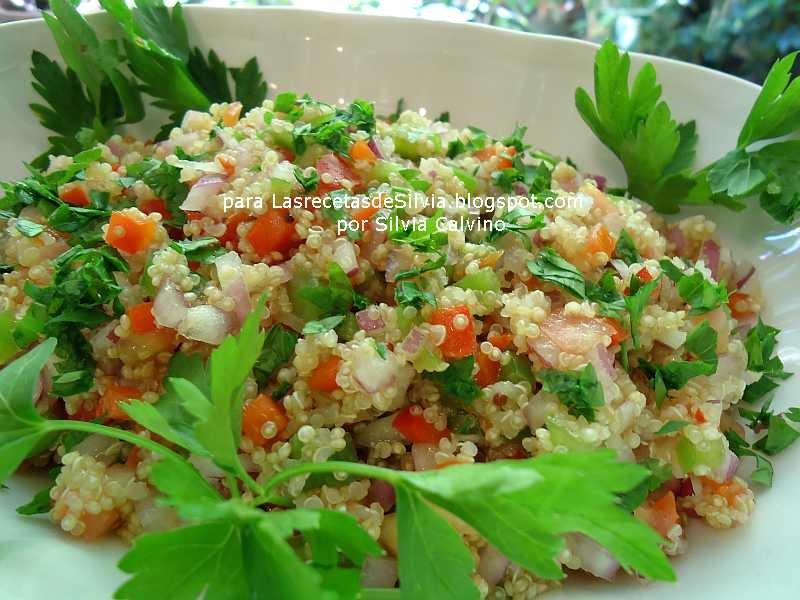 Las recetas de Silvia Recetas con quinoa ensalada de quinoa a la Andina