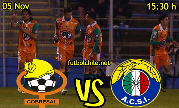 Ver stream hd youtube facebook movil android ios iphone table ipad windows mac linux resultado en vivo, online: Cobresal vs Audax Italiano