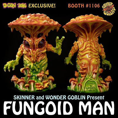 Designer Con 2016 Exclusive Fungoid Man Resin Figure by Skinner x Wonder Goblin
