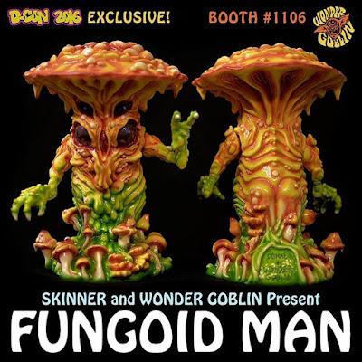 Designer Con 2016 Exclusive Fungoid Man Resin Figure by Skinner x Wonder Goblin