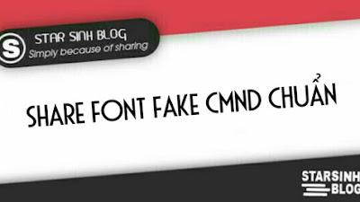 Share Font Fake CMND Chuẩn