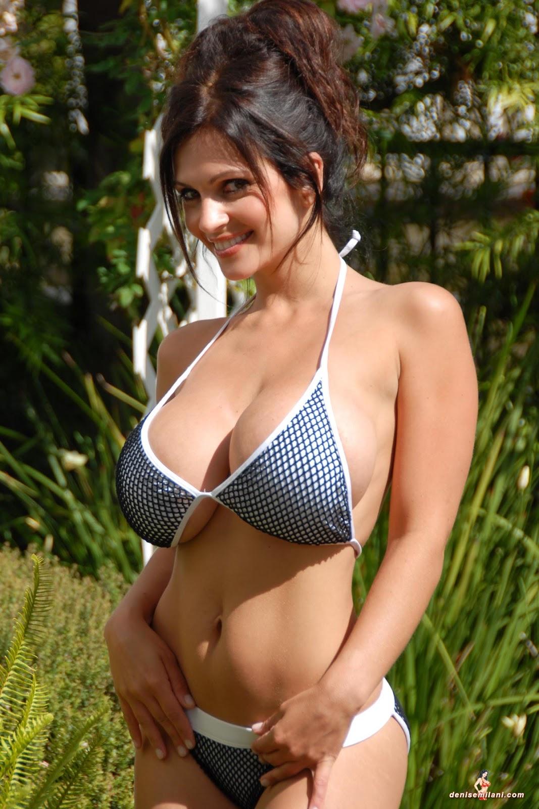 Denise milani hot tub