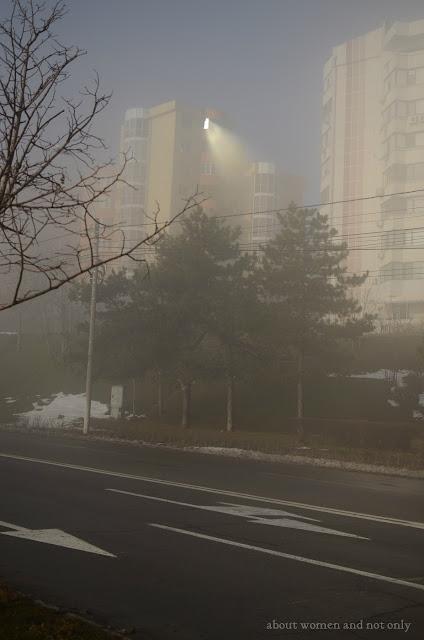 pe timp de ceata