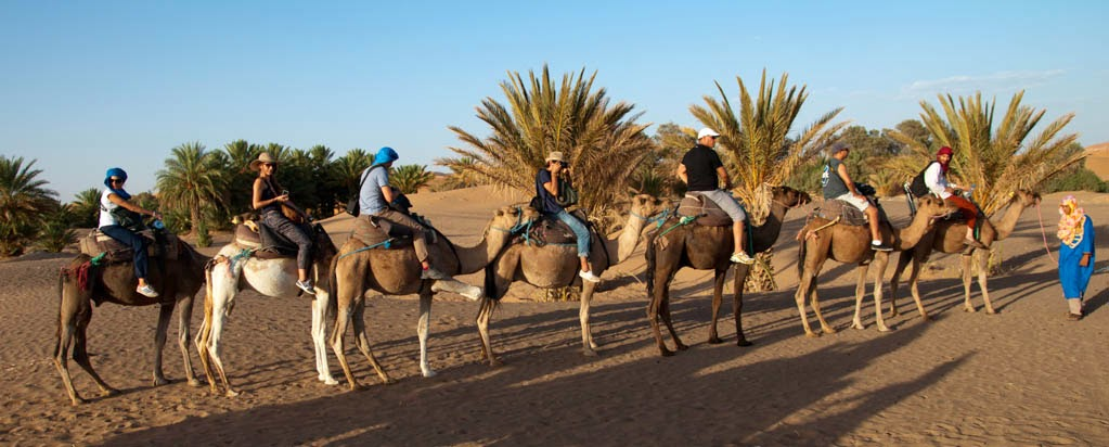 Ruta en camella en Merzouga