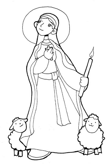 Santoral Católico Virgen Y Santos Para Colorear