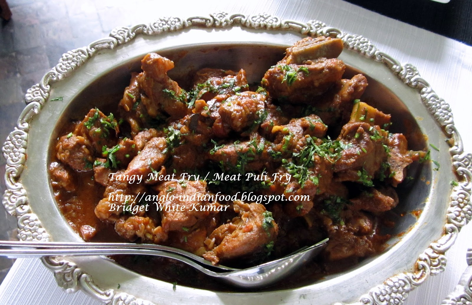 Anglo indian recipes by bridget white tangy mutton curry or tangy mutton curry or tamarind meat curry forumfinder Images