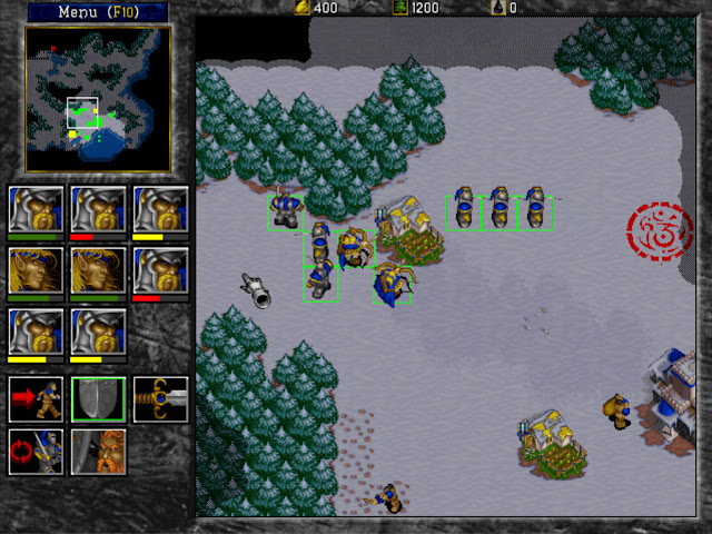 Warcraft 2 Group Units Screenshot